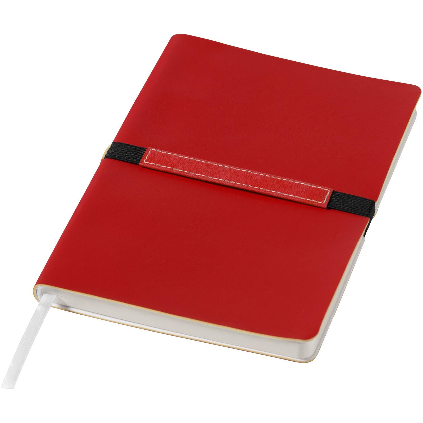 Zápisník s měkkou obálkou A5 Stretto - Červená s efektem námrazy
