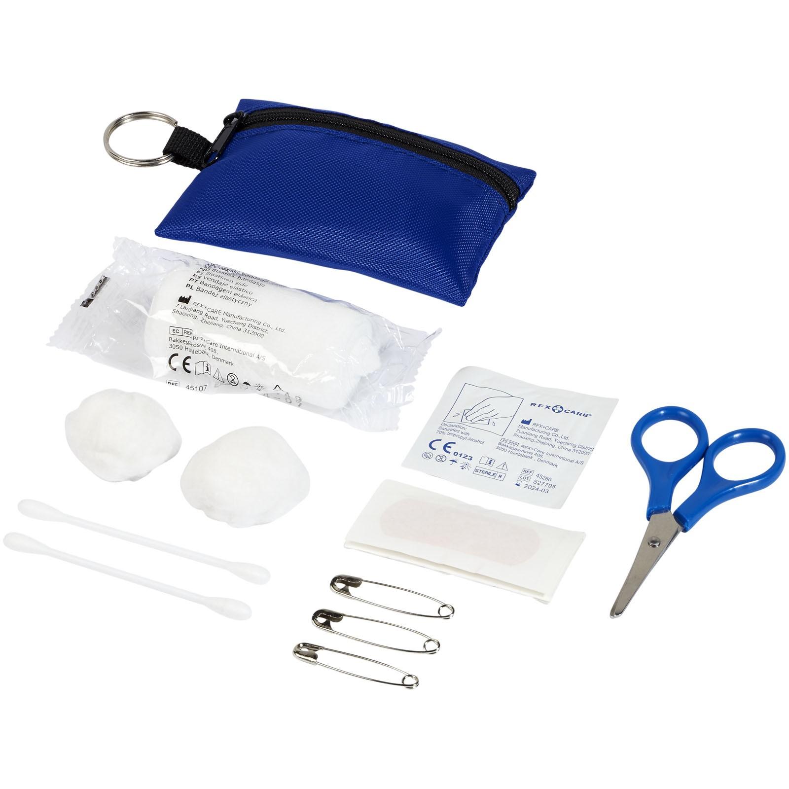 Valdemar 16-piece first aid keyring pouch - Royal blue