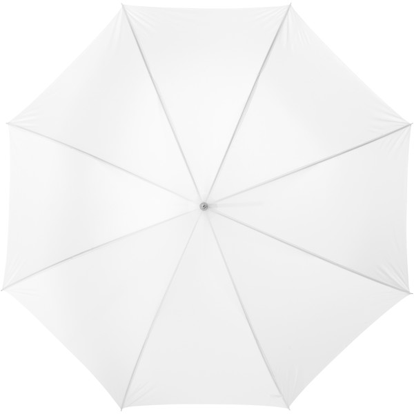 "Lisa 23"" auto open umbrella with wooden handle - White"