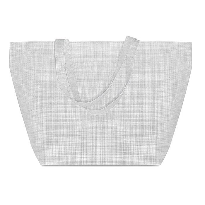 2 tone non woven shopping bag Duo Bag - White