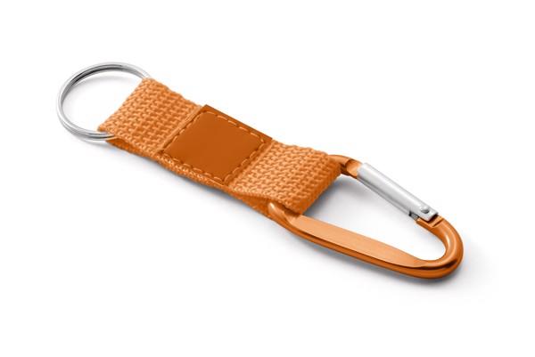 FARRI. Keyring with carabiner - Orange