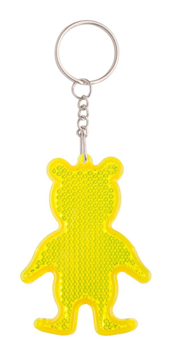 Přívěšek Na Klíče - Odrazka Safebear - Žlutá