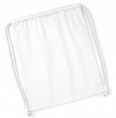 Bawełniany worek gimnastyczny Organic Premium  - White