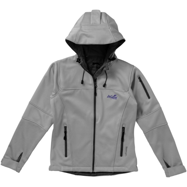 Match ladies softshell jacket - Grey / S