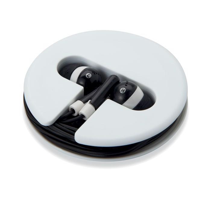 Słuchawki w silikonowym pudełk Sonosoft - czarny