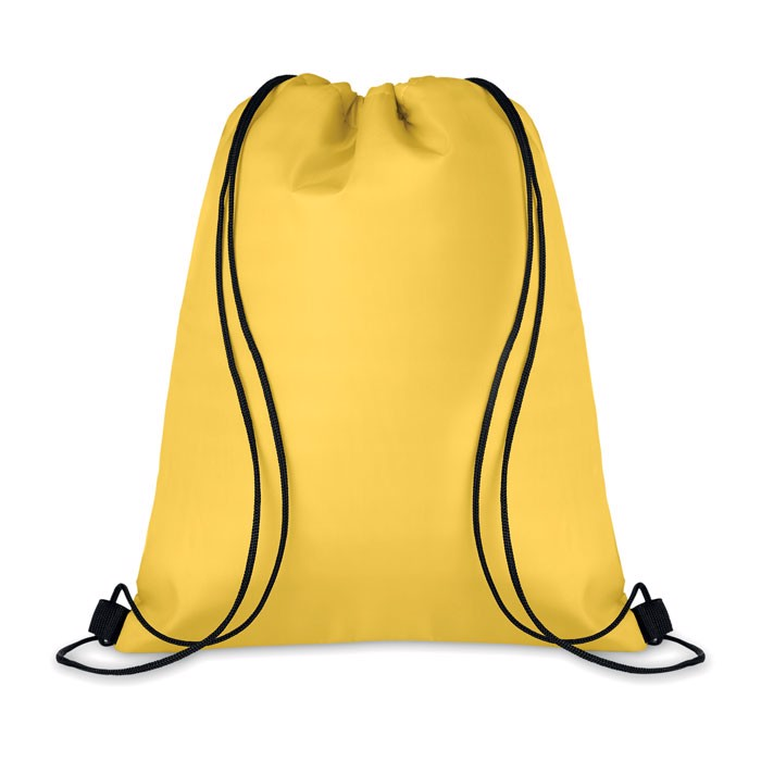 210D Drawstring cooler bag Cooltas - Yellow