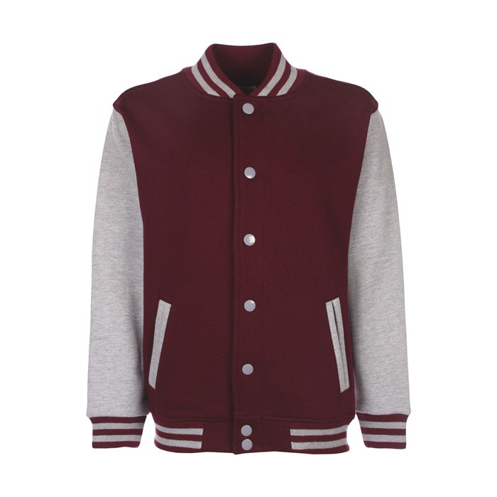 Kinder Sweatshirt 300 g/m2 Junior Varsity Jacket Fv002 - Burgundy / XL