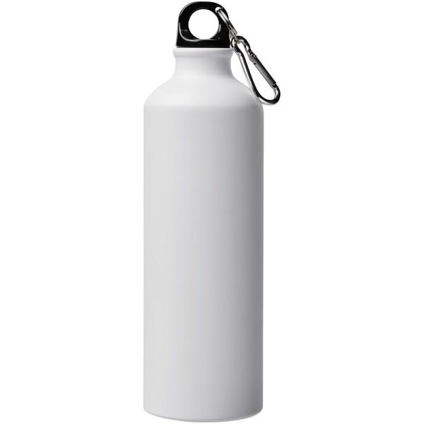 Pacific 770 ml matte Sportflasche mit Karabinerhaken - Weiss