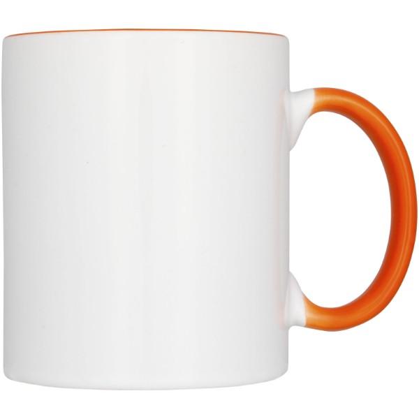 2-częściowy zestaw upominkowy Ceramic składający się z kubków z nadrukiem sublimacyjnym - Pomarańczowy