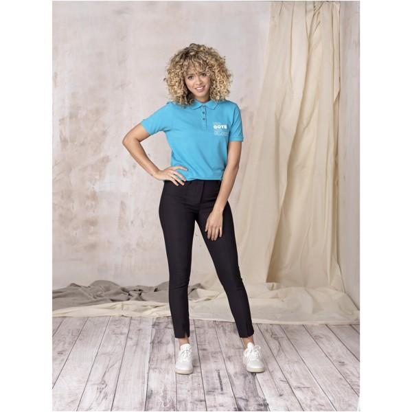 Beryl short sleeve women's GOTS organic GRS recycled polo - Solid Black / L