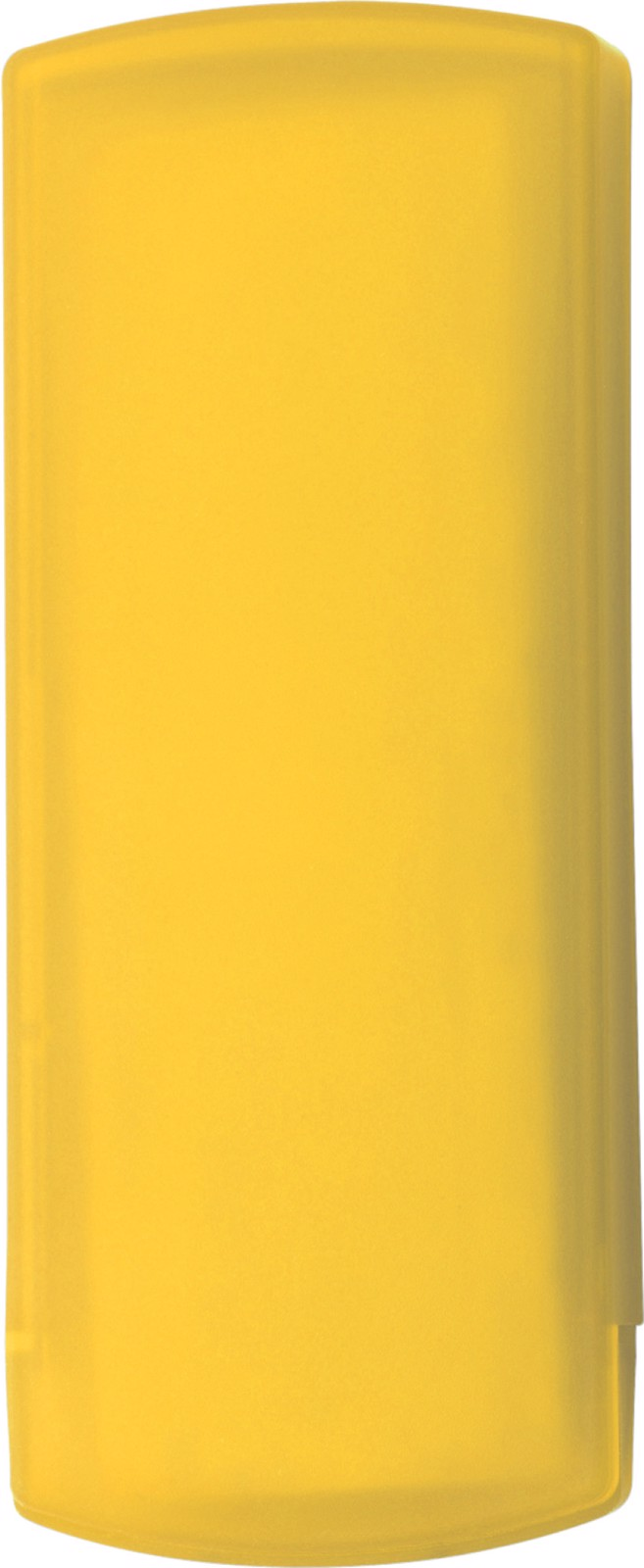 Plastic case with plasters - Yellow