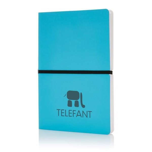 Deluxe puhafedelű A5-ös jegyzetfüzet - Kék