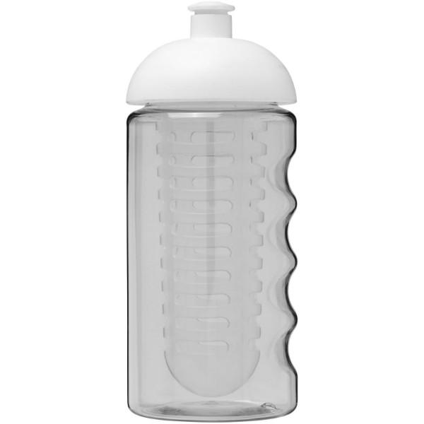 H2O Bop® 500 ml dome lid sport bottle & infuser - Transparent / White
