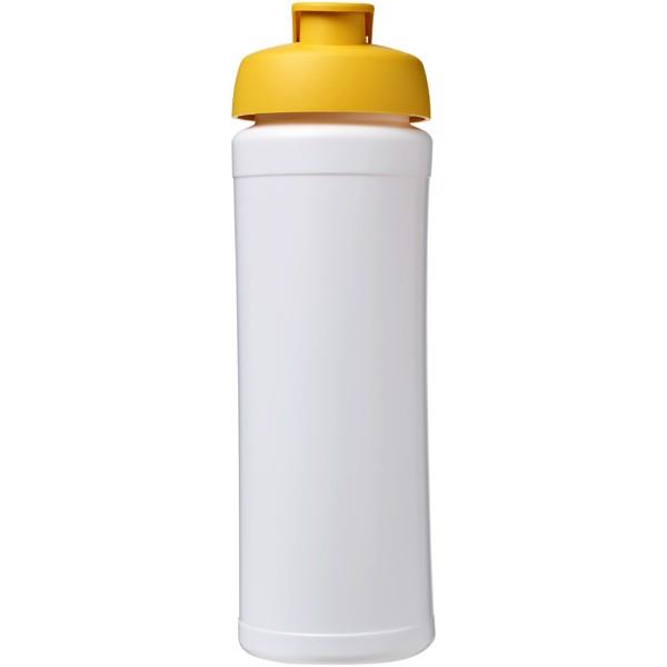Baseline® Plus grip 750 ml Sportflasche mit Klappdeckel - Weiss / Gelb