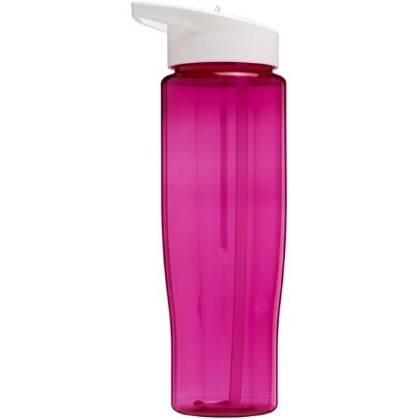 H2O Tempo® 700 ml spout lid sport bottle - Pink / White