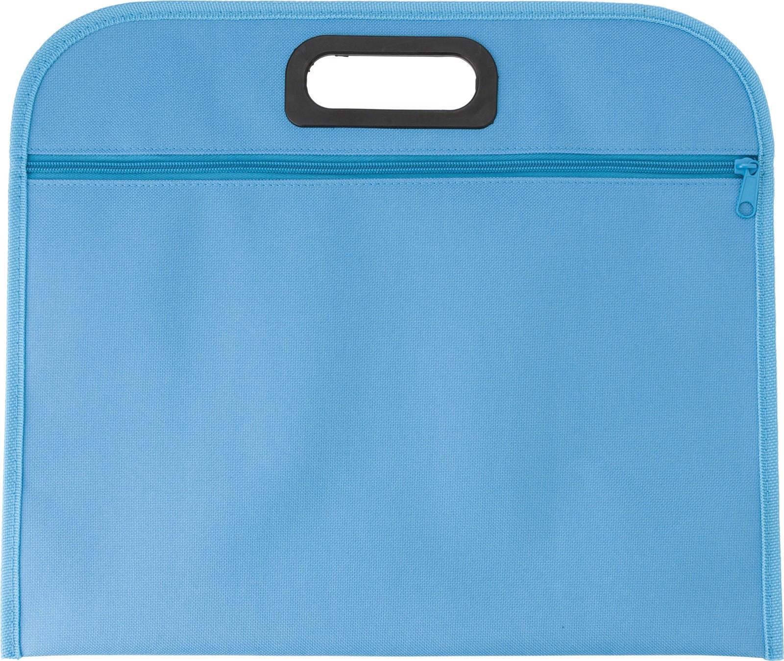 Polyester (600D) conference bag - Light Blue
