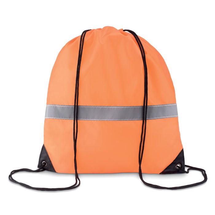 Drawstring reflective stripe - Neon Orange