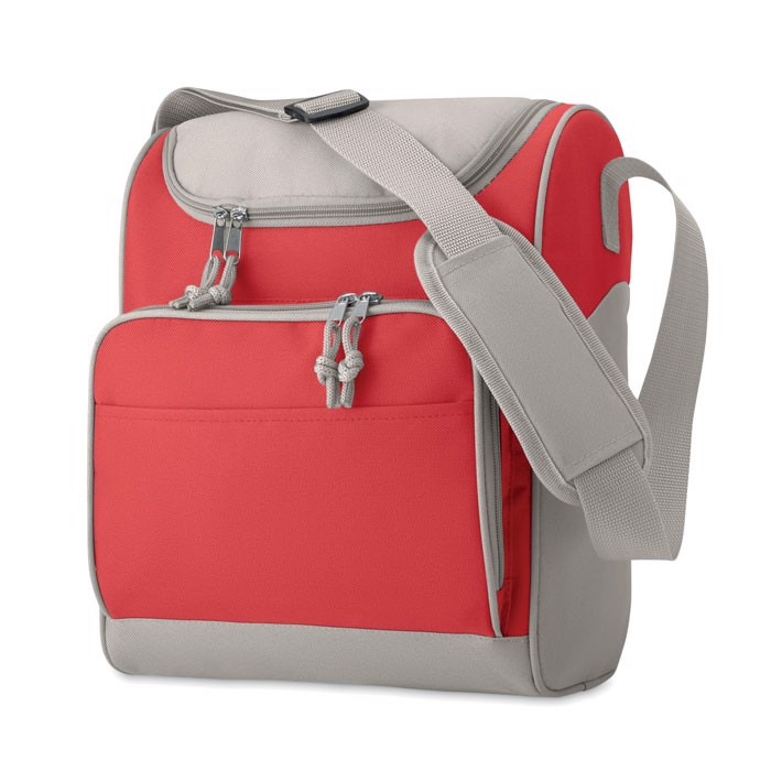 Torba izotermiczna z kieszenią Zipper - czerwony
