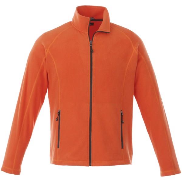 Rixford men's full zip fleece jacket - Orange / M