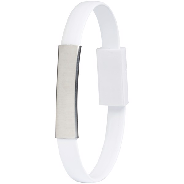 Bracelet 2-in-1 charging cable - White