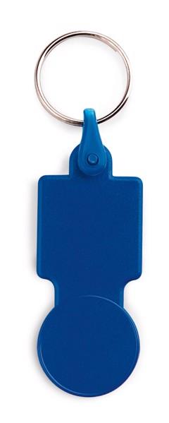 SULLIVAN. Μπρελόκ σε σχήμα νομίσματος για το καρότσι του σούπερ μάρκετ - Μπλε