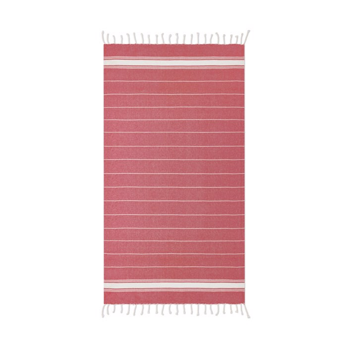Beach towel cotton  180 gr/m² Malibu - Red