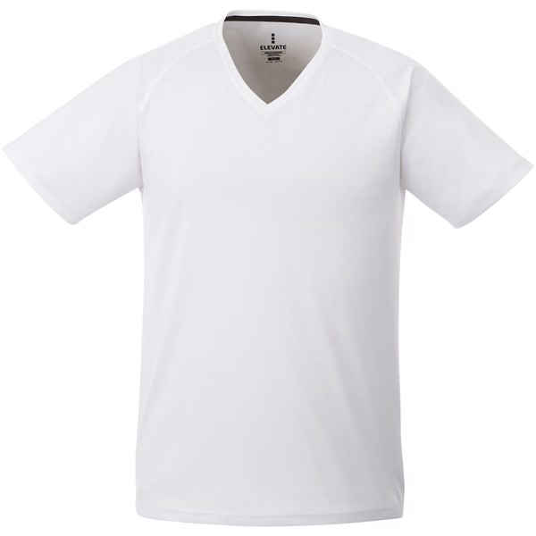 Amery short sleeve men's cool fit v-neck shirt - White / XS