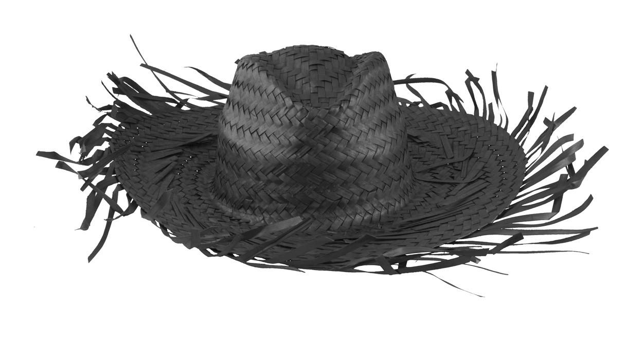 Slaměný Klobouk Filagarchado - Černá