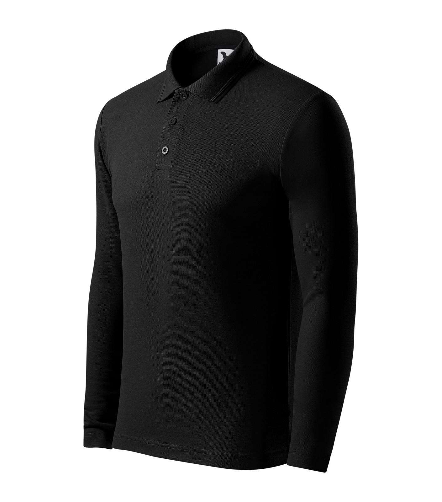 Polo Shirt men's Malfini Pique Polo LS - Black / XL