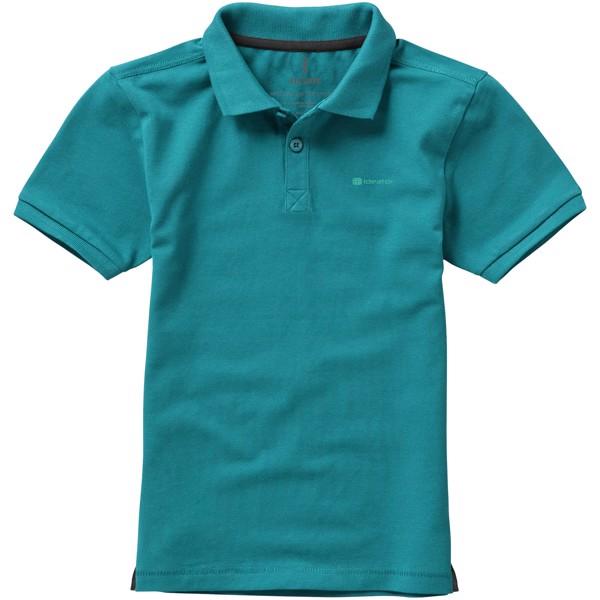 Calgary short sleeve kids polo - Aqua / 116