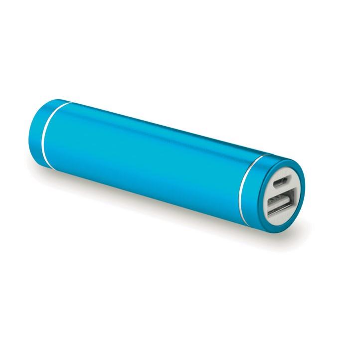 Power banka ve tvaru cylindru Powerovale - blue