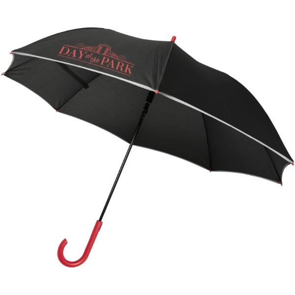 """23"""" větruodolný reflexní deštník Felice s automatickým otvíráním - Červená s efektem námrazy"""