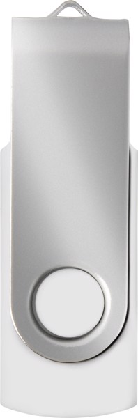 ABS USB drive (16GB/32GB) - White / Silver