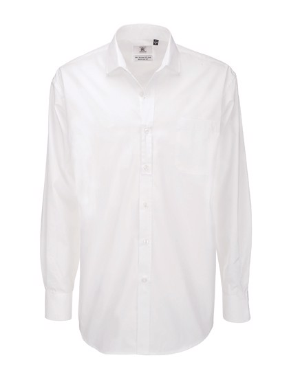 Poplin Shirt Heritage Long Sleeve / Men - White / XXL