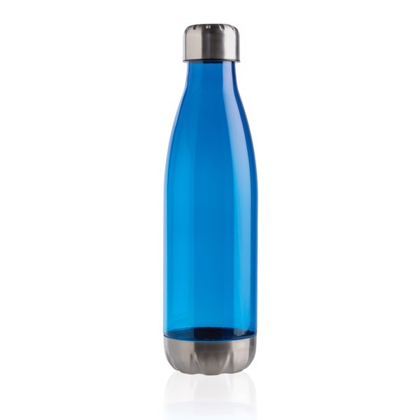 Leakproof water bottle with stainless steel lid - Blue