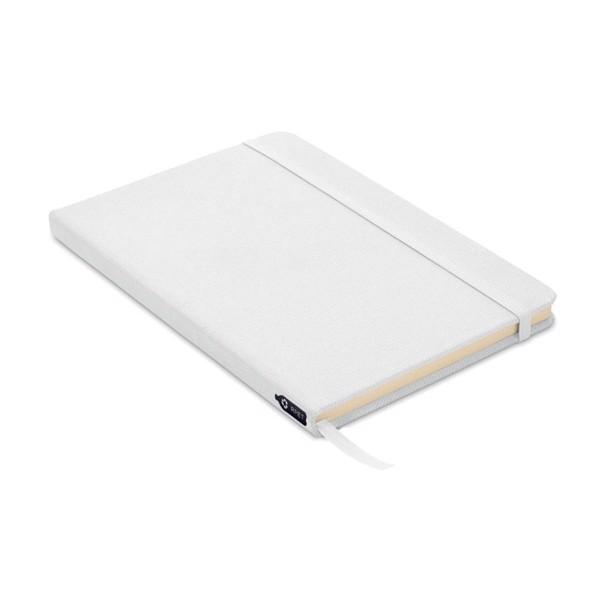 Notatnik A5, okładka 600D RPET Note Rpet - biały