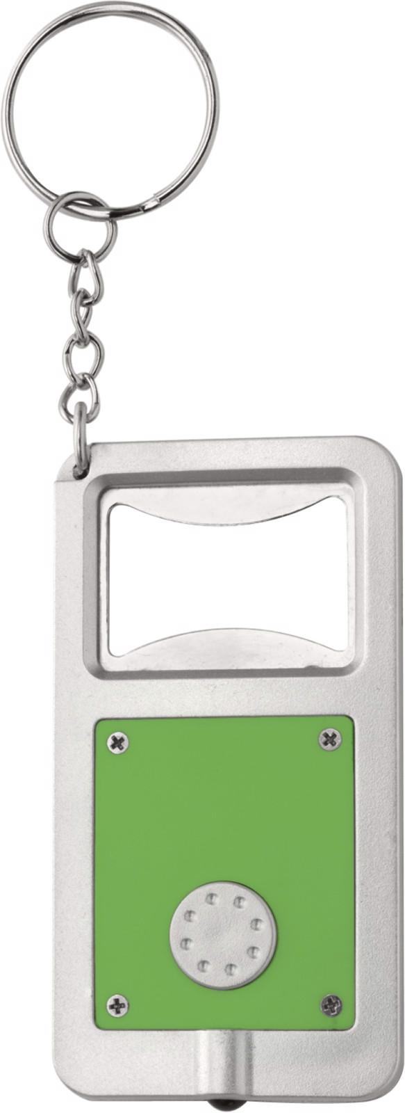 Plastic key holder with LED - Light Green