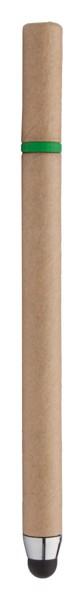 Dotykové Kuličkové Pero Z Recyklovaného Papíru EcoTouch - Přírodní / Zelená
