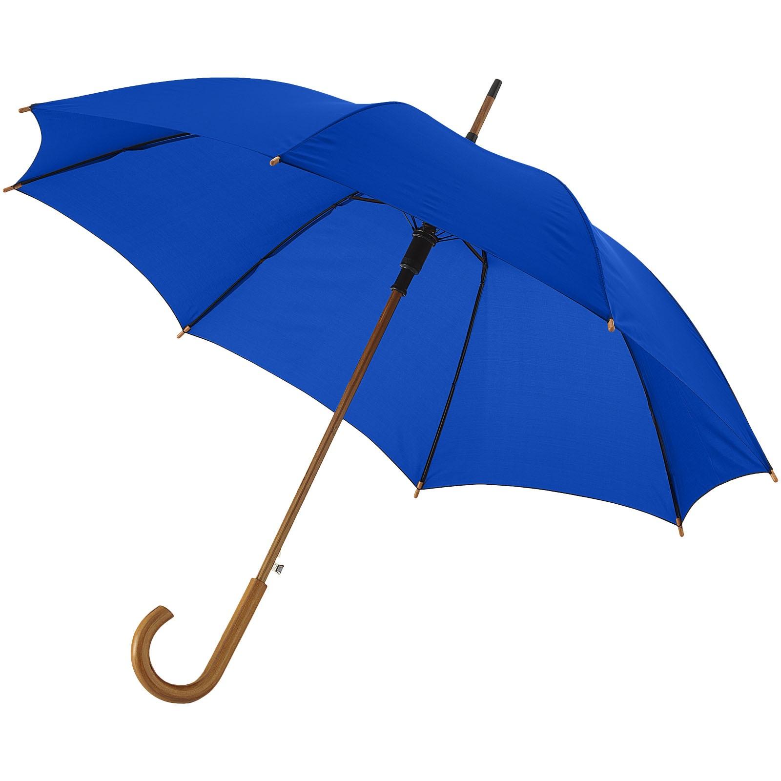 """23"""" deštník Kyle s automatickým otvíráním a dřevěnou tyčí a rukojetí - Světle modrá"""