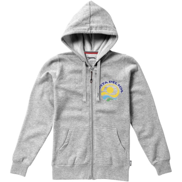 Open full zip hooded ladies sweater - Grey melange / XL