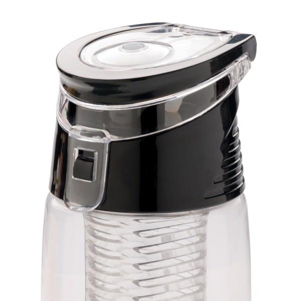 Uzavíratelná lahev s košíkem - Průhledné / Šedá