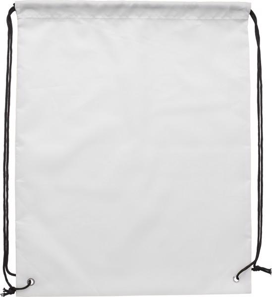 RPET polyester (190T) drawstring backpack - White