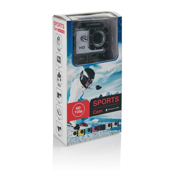 Akční kamera s11dílným příslušenstvím - Bílá / Černá