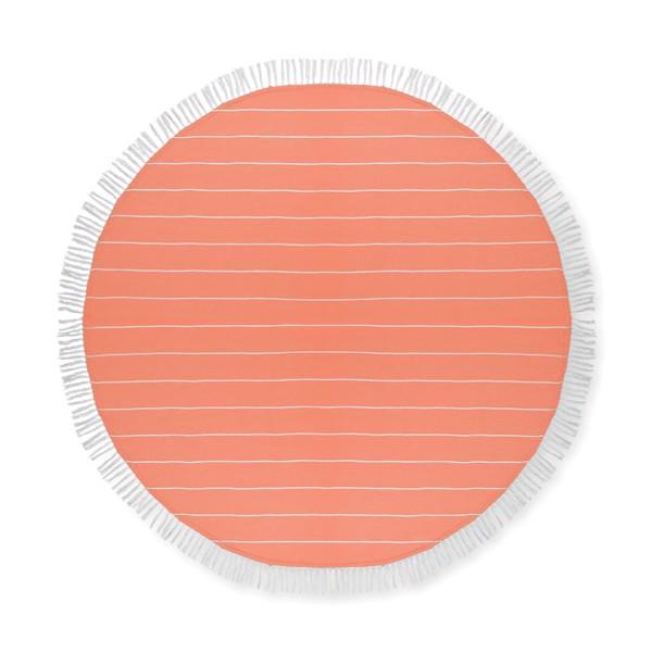 Ręcznik bawełniany Round Malibu - pomarańczowy
