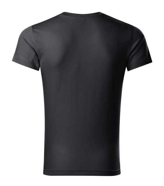 T-shirt men's Malfini Slim Fit V-neck - Ebony Gray / M
