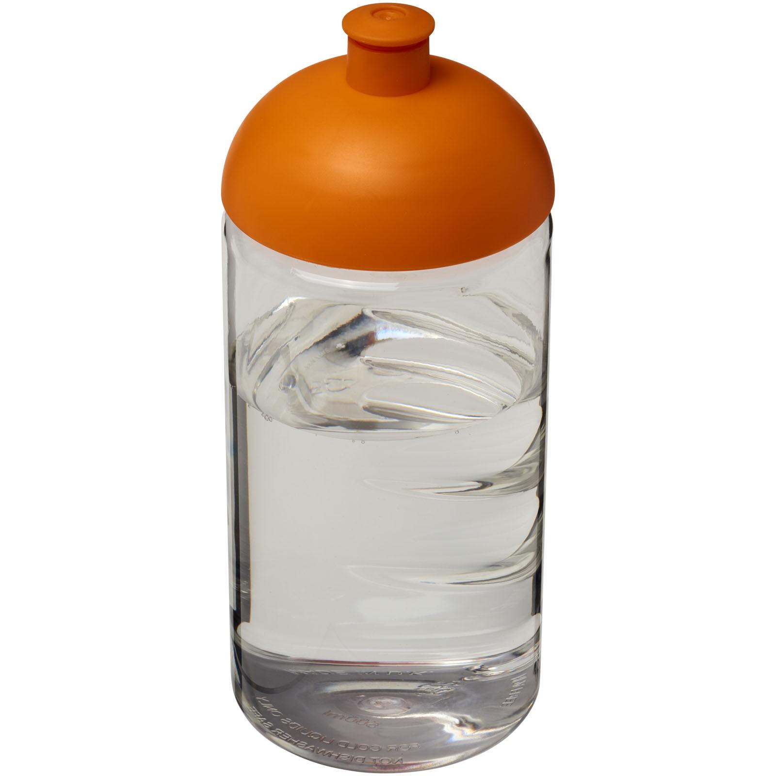 Láhev s kupolovitým víčkem H2O Bop® 500 ml - Průhledná / 0ranžová