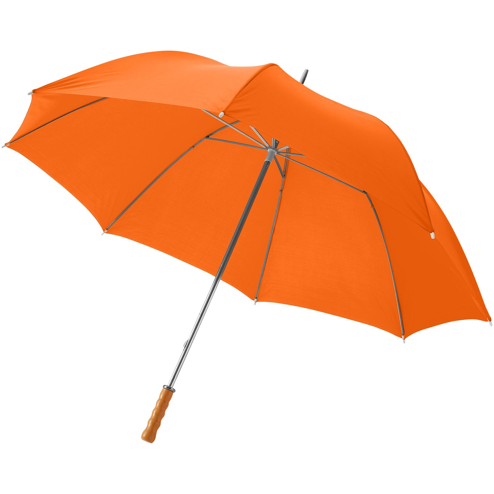 """30"""" golfový deštník Karl s dřevěnou rukojetí - 0ranžová"""