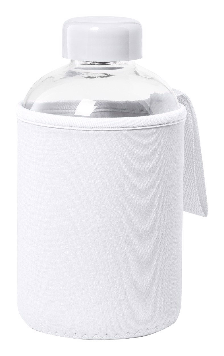 Glass Sport Bottle Flaber - White