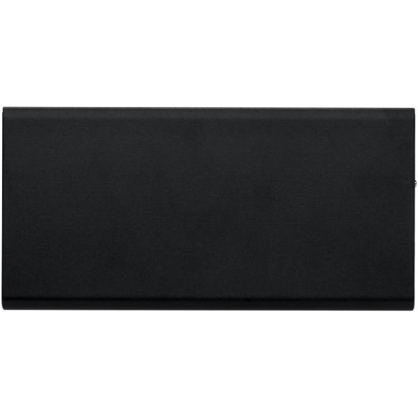 Plate 8000 mAh aluminium power bank - Solid black