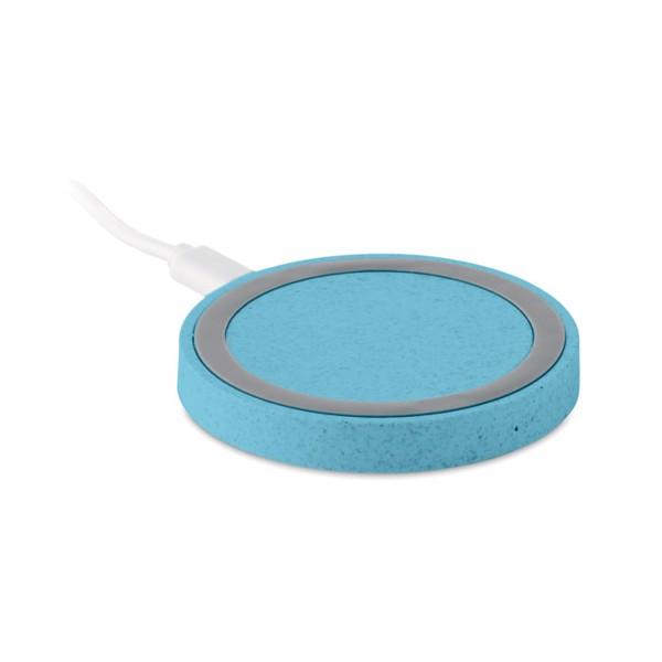 Bezdrátová nabíječka,sláma/ABS Plato+ - heaven blue